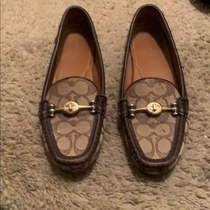 Coach brown penny loafers Women's